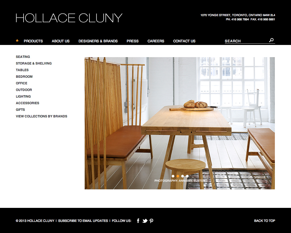 Hollace Cluny website